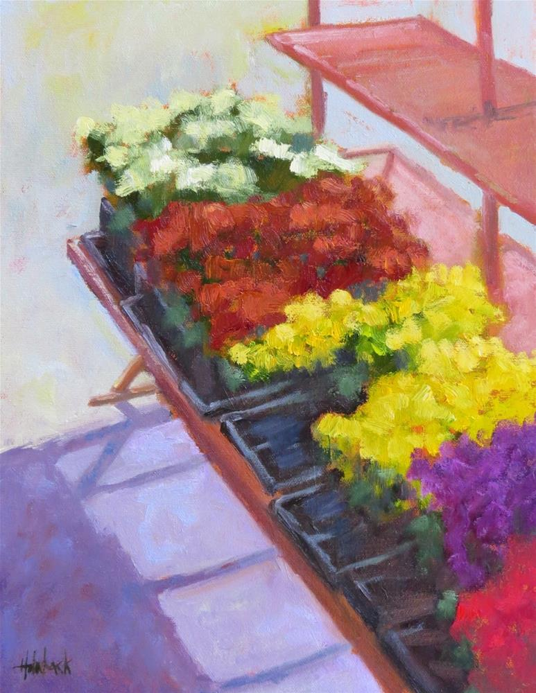 """Fall Mums"" original fine art by Pam Holnback"