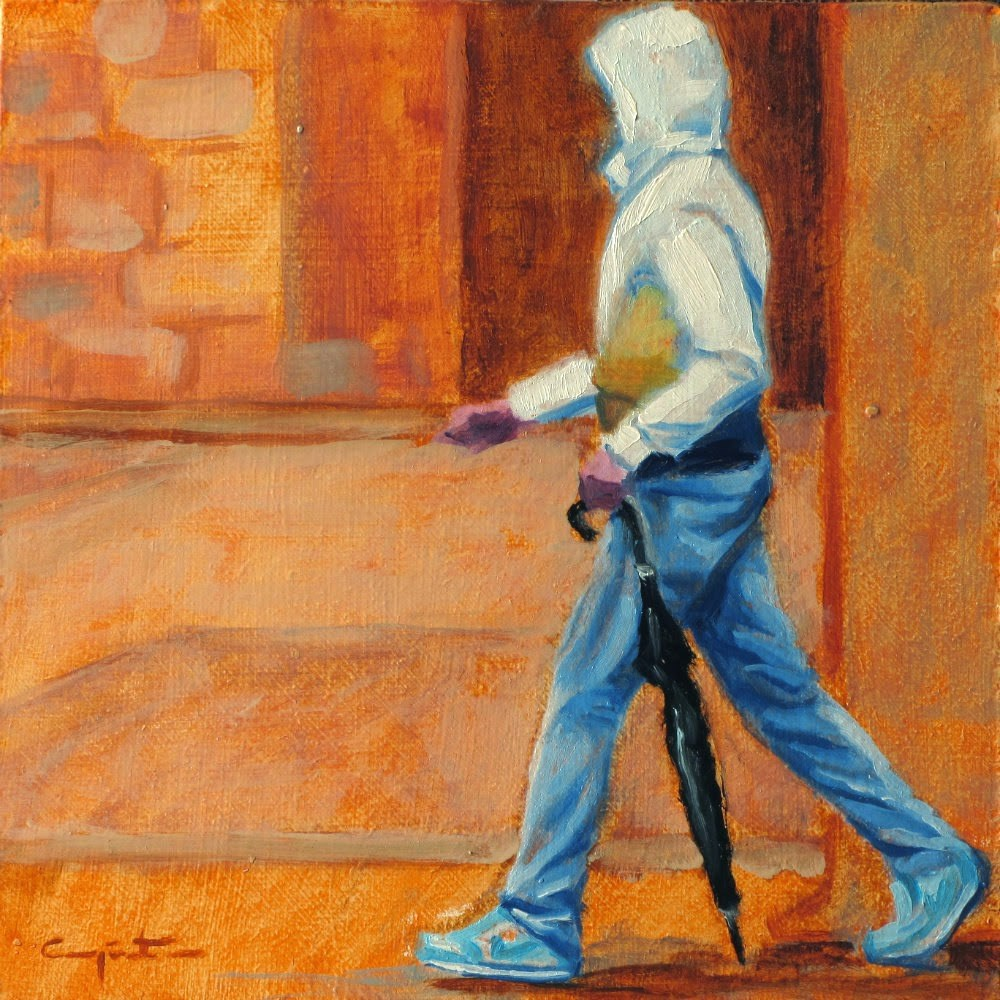 """""""De paso por la ronda"""" original fine art by Eduardo Carpintero"""
