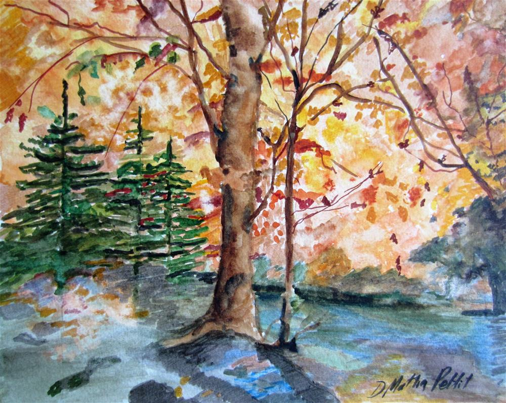 """Autumn Splendor"" original fine art by Dolores Pettit"