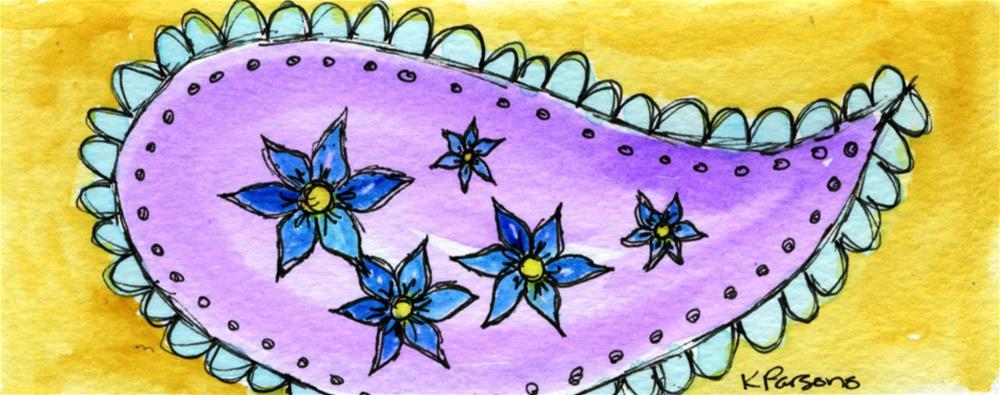 """""""Purple Paisley"""" original fine art by Kali Parsons"""