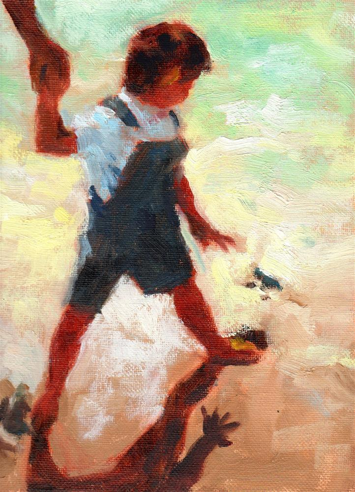 """Footprints All Gone"" original fine art by Marlene Lee"
