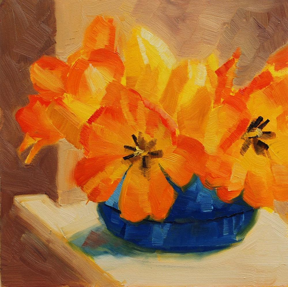 """Tulips at Mom's"" original fine art by Susan McManamen"