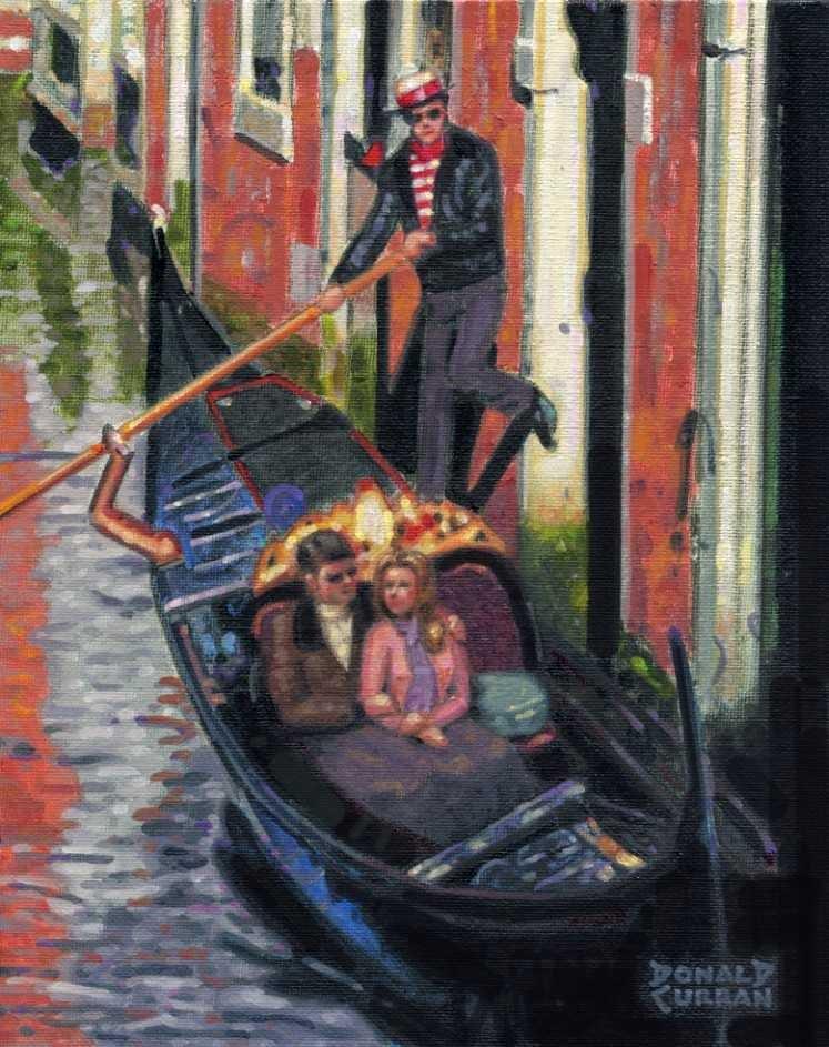 """Gondola Ride"" original fine art by Donald Curran"
