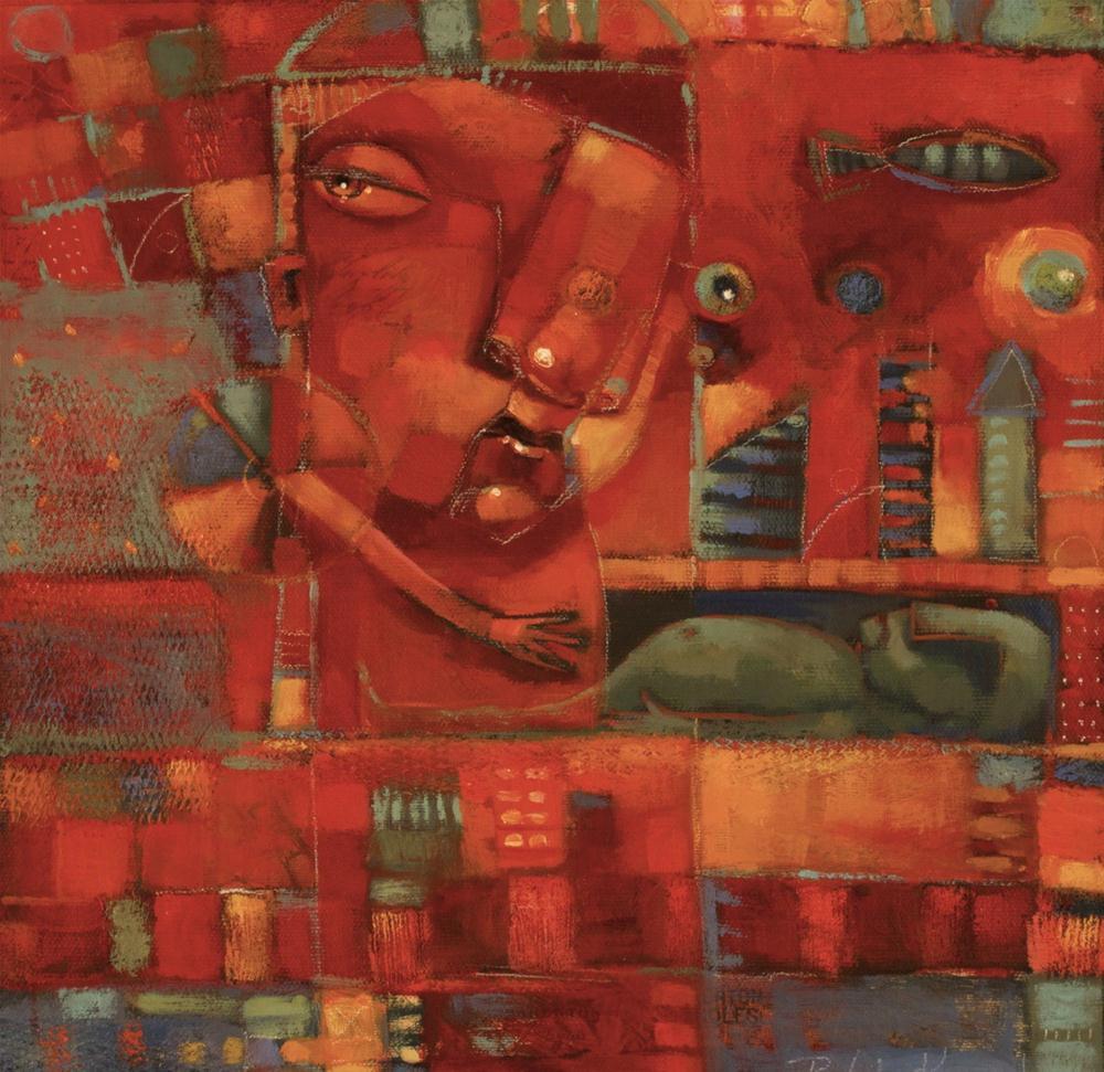 """Moonchild In The Boneyard"" original fine art by Brenda York"