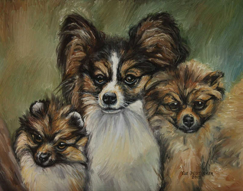 """""""Little Angels"""" original fine art by Sue Deutscher"""