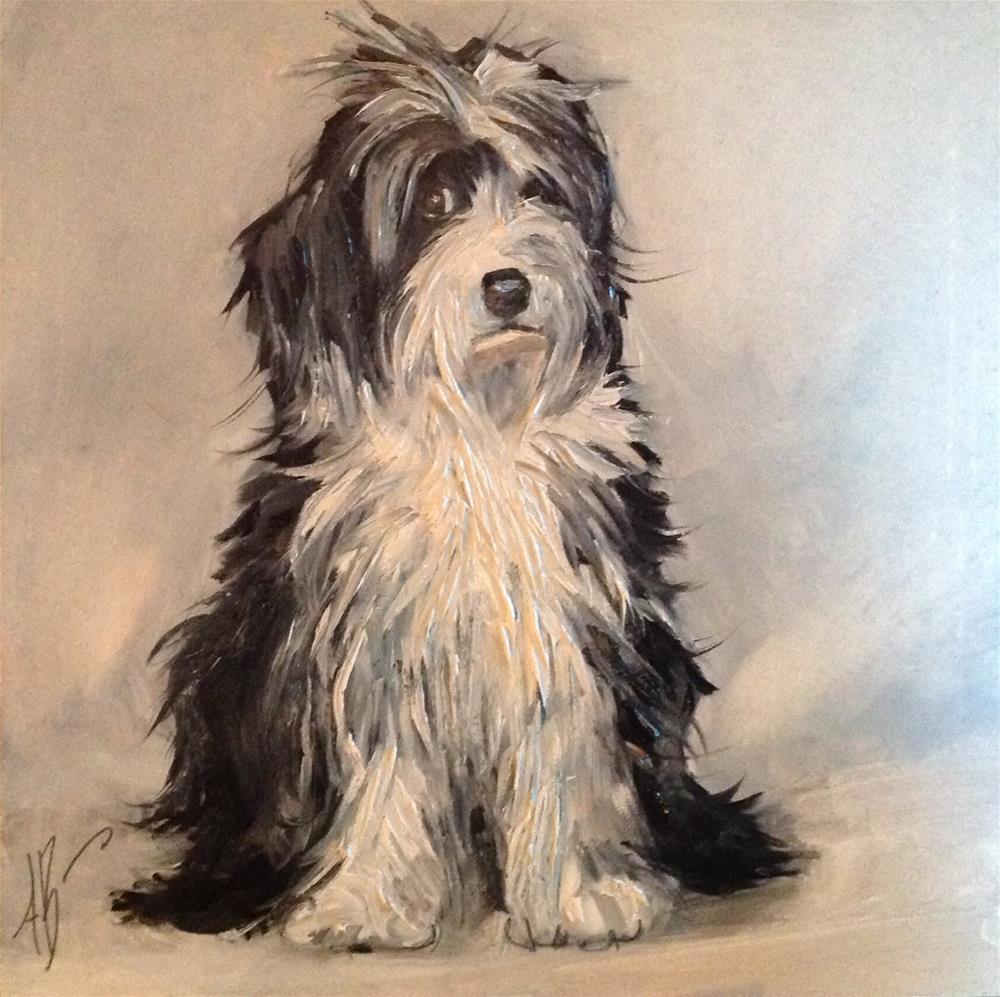 """""""Lab-a-doodle Portrait"""" original fine art by Annette Balesteri"""