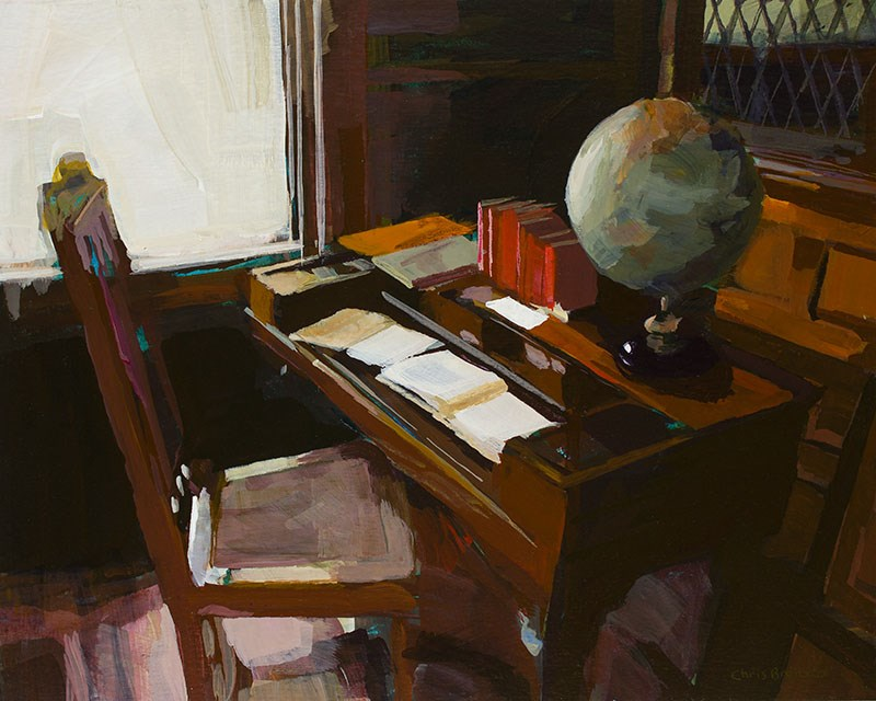 """Library"" original fine art by Chris  Breier"
