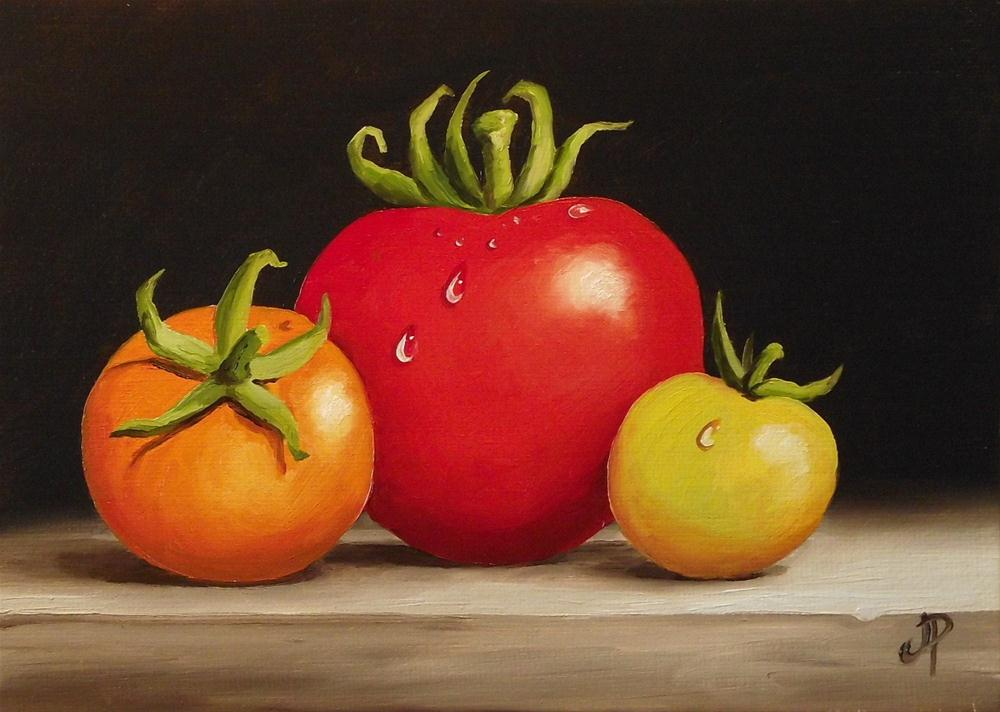 """Tomatoes"" original fine art by Jane Palmer"