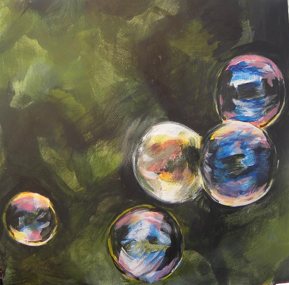 """Bubbles"" original fine art by cheryl buhrman"