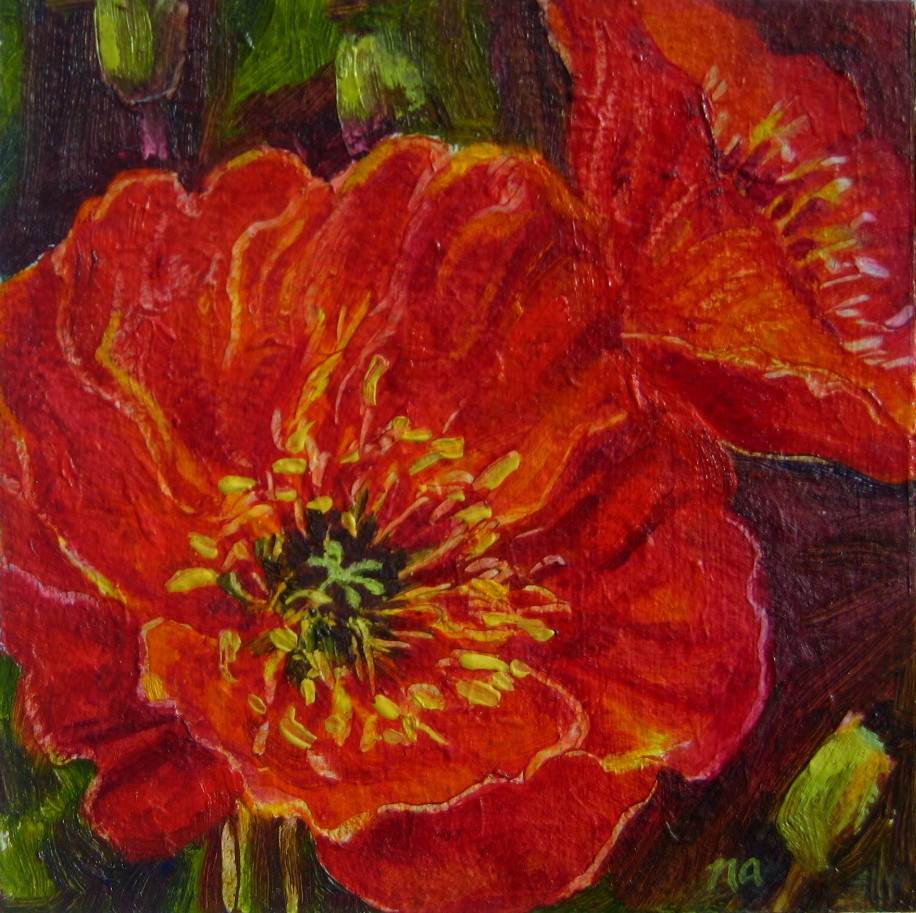 """Poppies"" original fine art by Nicki Ault"
