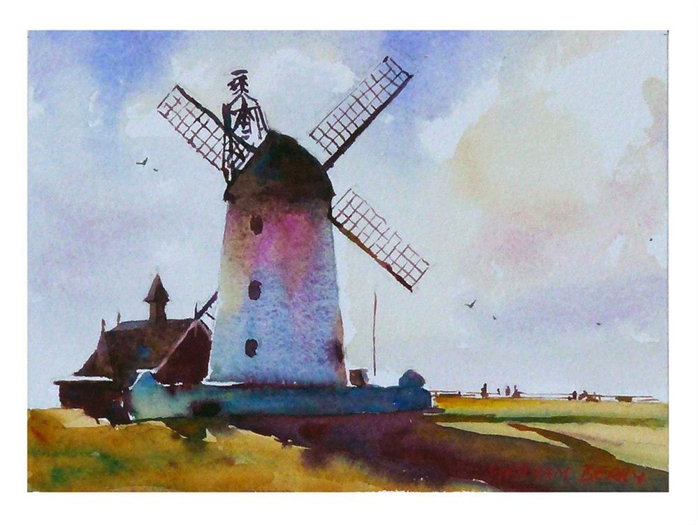 """Lytham windmill."" original fine art by Graham Berry"