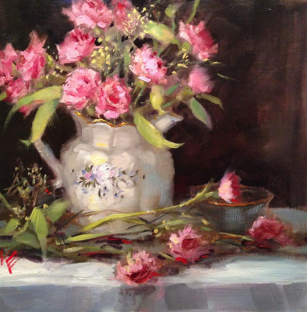 """Carnations"" original fine art by Krista Eaton"