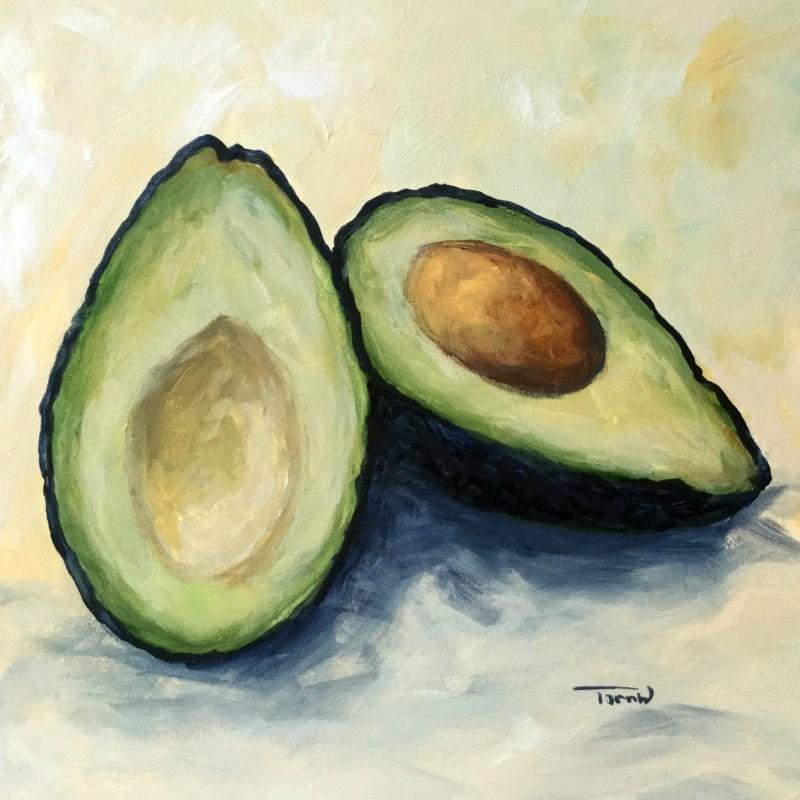 """Avocado IV"" original fine art by Torrie Smiley"