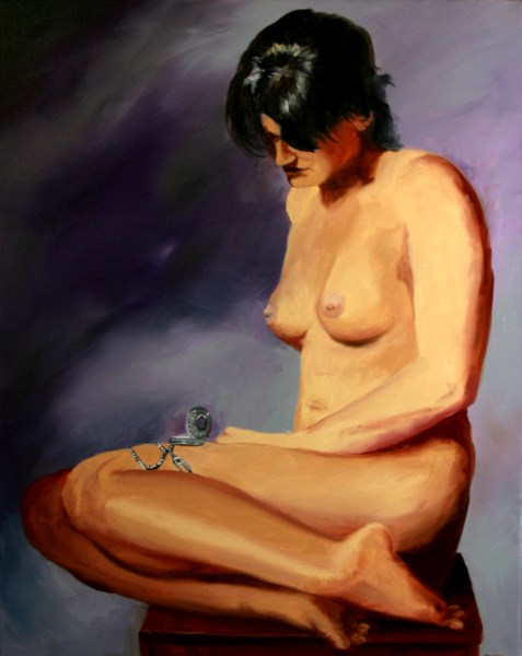 """Mark Webster Artist - Katja 227.6 Nude Figurative Oil Painting"" original fine art by Mark Webster"