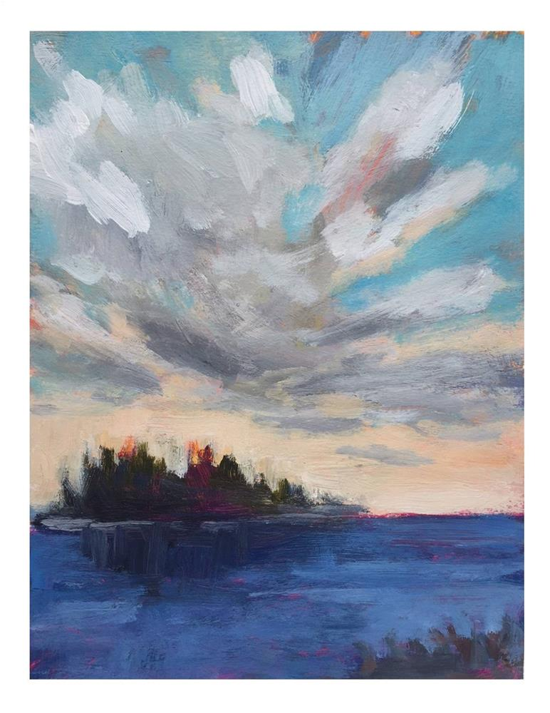"""""""Island And Cloud"""" original fine art by Suzanne Woodward"""