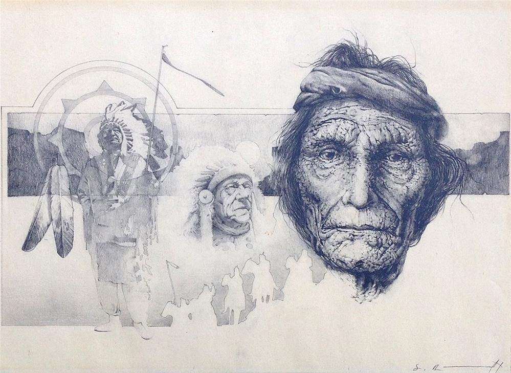 """Three Chiefs"" original fine art by Stephen Ravenscraft"