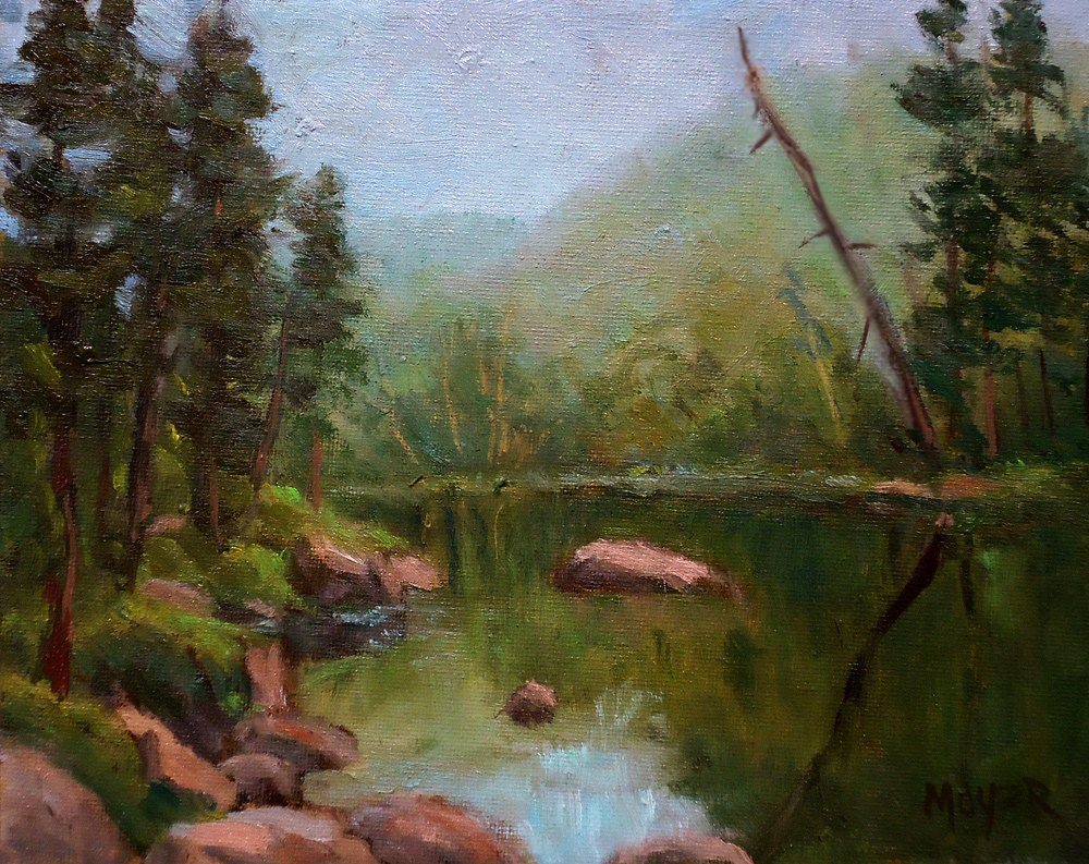 """Early morning on the Boise River"" original fine art by Jim Moyer"