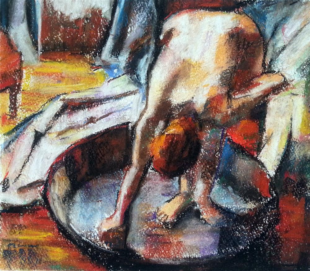"""""""After Degas"""" original fine art by Nava Judith"""