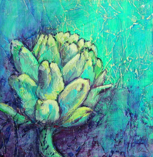 """Artichoke 2"" original fine art by Gloria Urban"