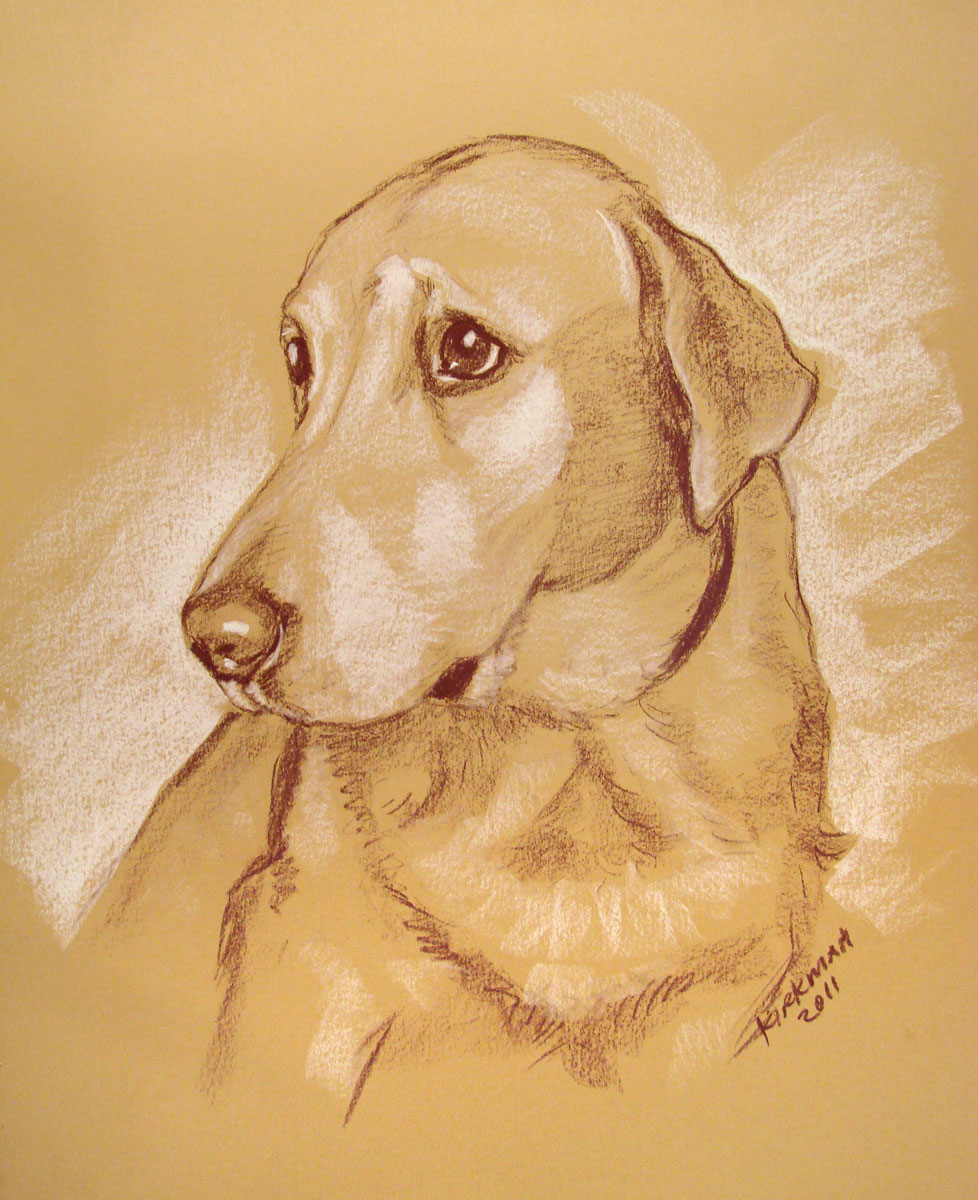 """A Pet Portrait 'Quick-Sketch'"" original fine art by Rita Kirkman"
