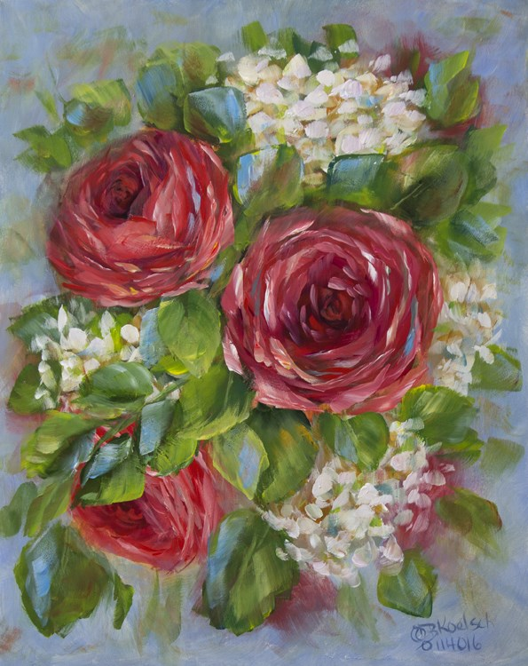 """Red As A Rose"" original fine art by Bobbie Koelsch"