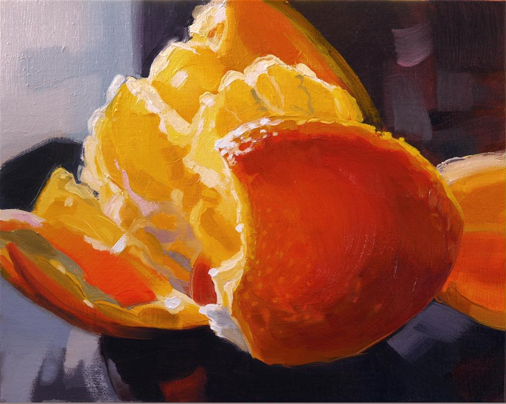 """orange"" original fine art by Beata Musial-Tomaszewska"