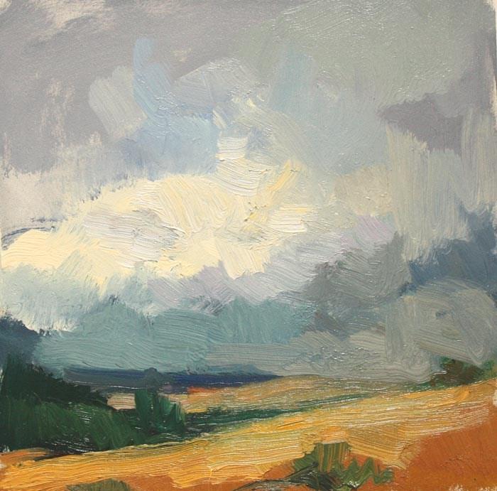 Storm near Winthrop original fine art by Kathryn Townsend