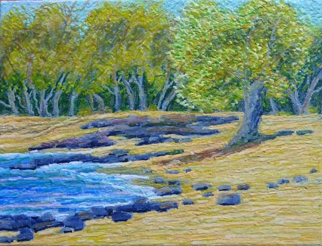 """Magoon's Beach Trees"" original fine art by Stan Chraminski"