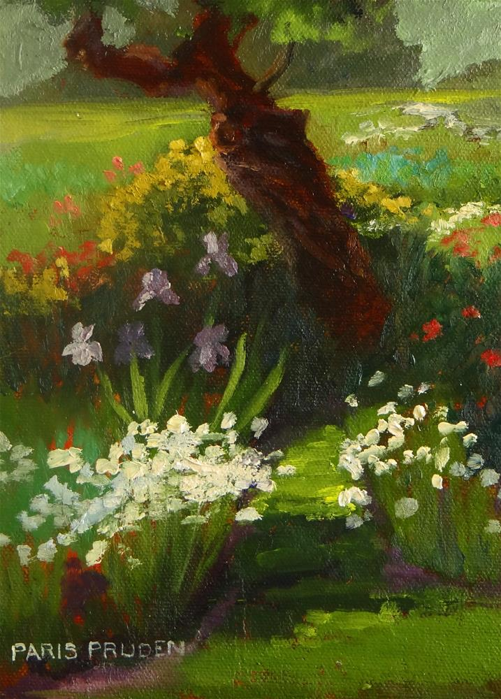 """Hollee's Garden"" original fine art by Nancy Paris Pruden"