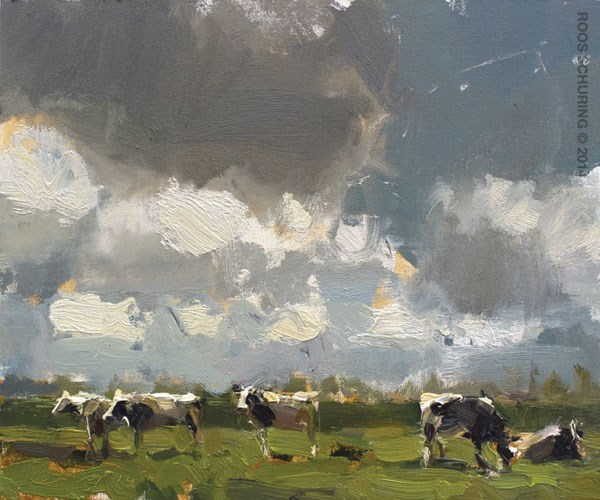 """I'm not Painting Cows"" original fine art by Roos Schuring"