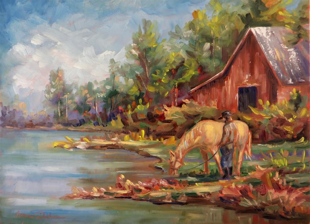 """A Horse to Water"" original fine art by Tammie Dickerson"