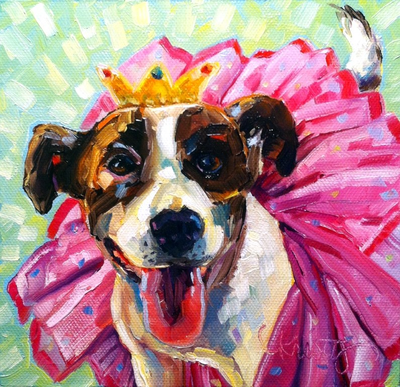 """READY FOR MY CLOSE-UP"" original fine art by Kristy Tracy"