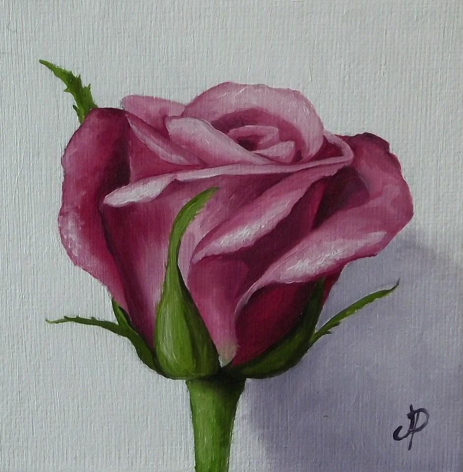 """Little rose"" original fine art by Jane Palmer"