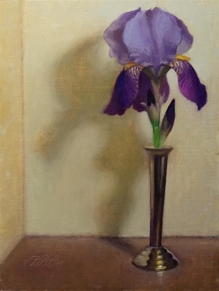 """Purple and Yellow"" original fine art by Debra Becks Cooper"