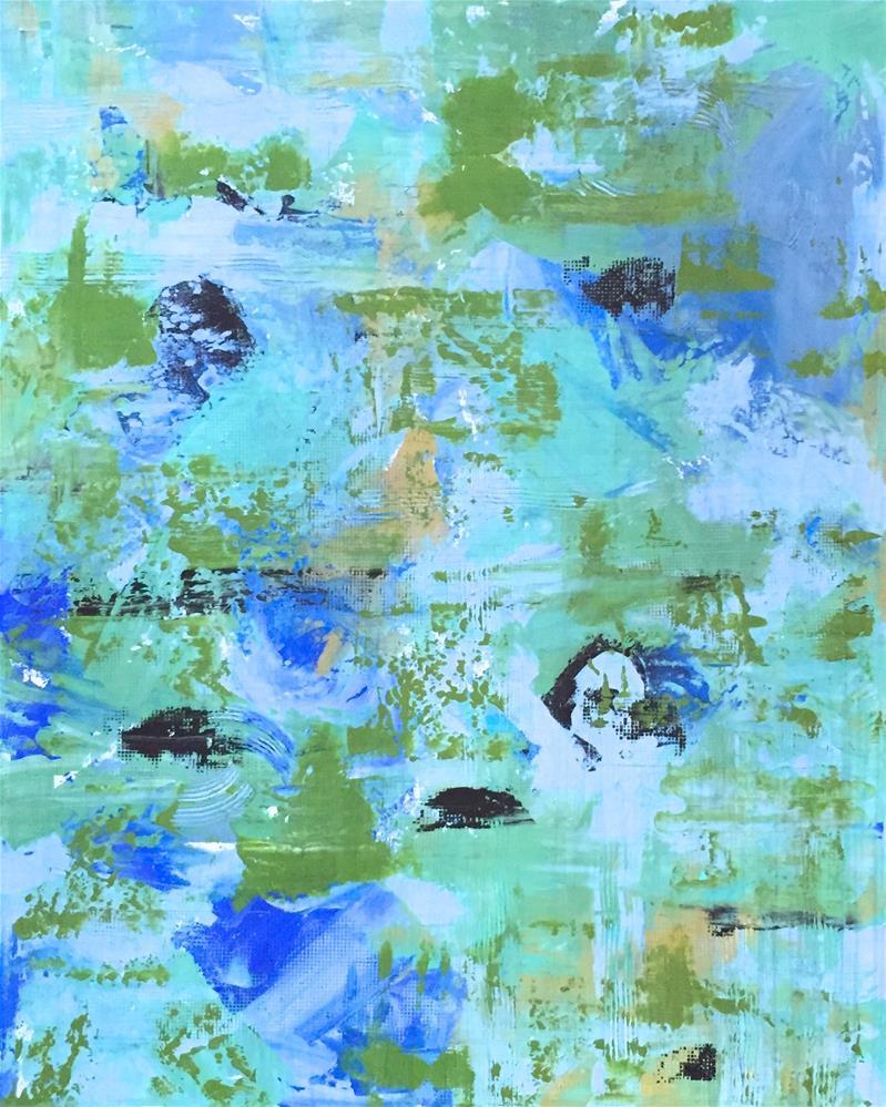"""Hues Of Blue"" original fine art by Janet Bludau"