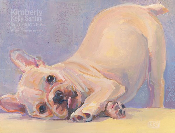 """Poppy Puppy"" original fine art by Kimberly Santini"