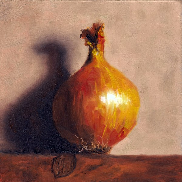 """Leaning onion"" original fine art by Peter J Sandford"
