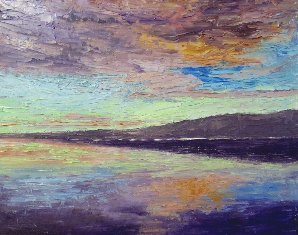 """8 x 10 inch oil Cloud Study"" original fine art by Linda Yurgensen"
