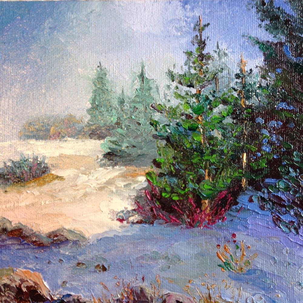 """""""Foggy Morning"""" original fine art by Rose Brenner"""