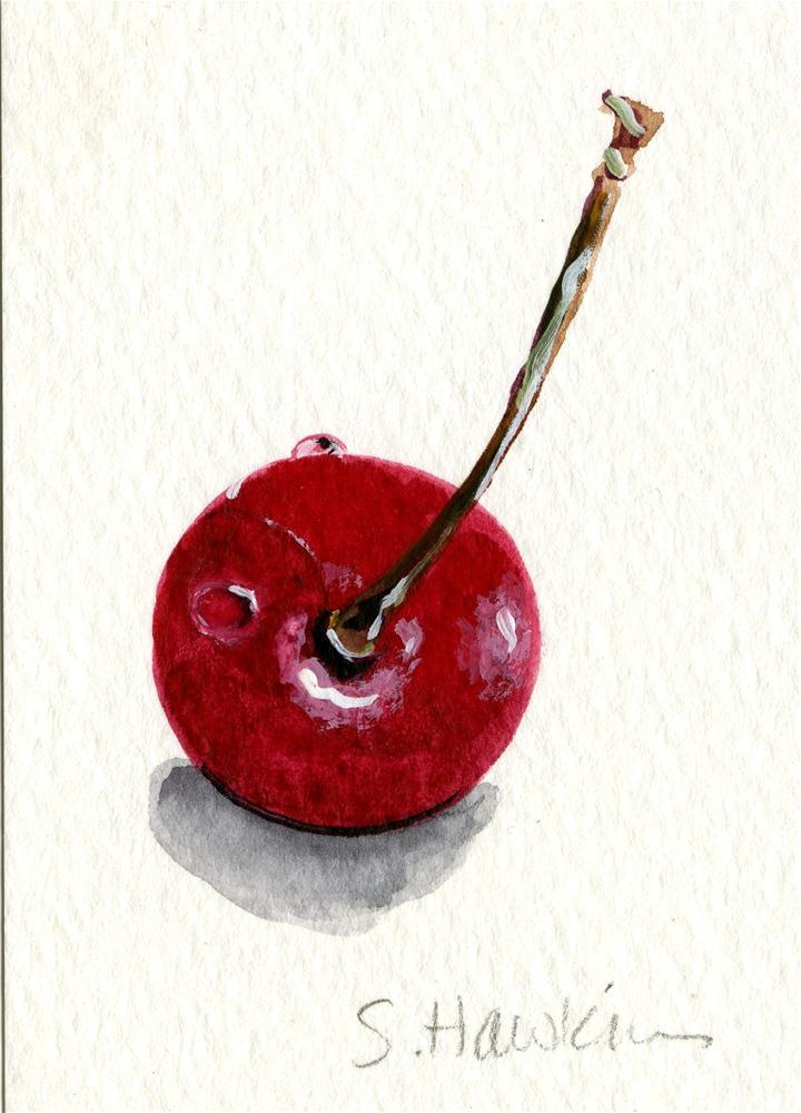 """Cherry Red"" original fine art by Sheryl Heatherly Hawkins"