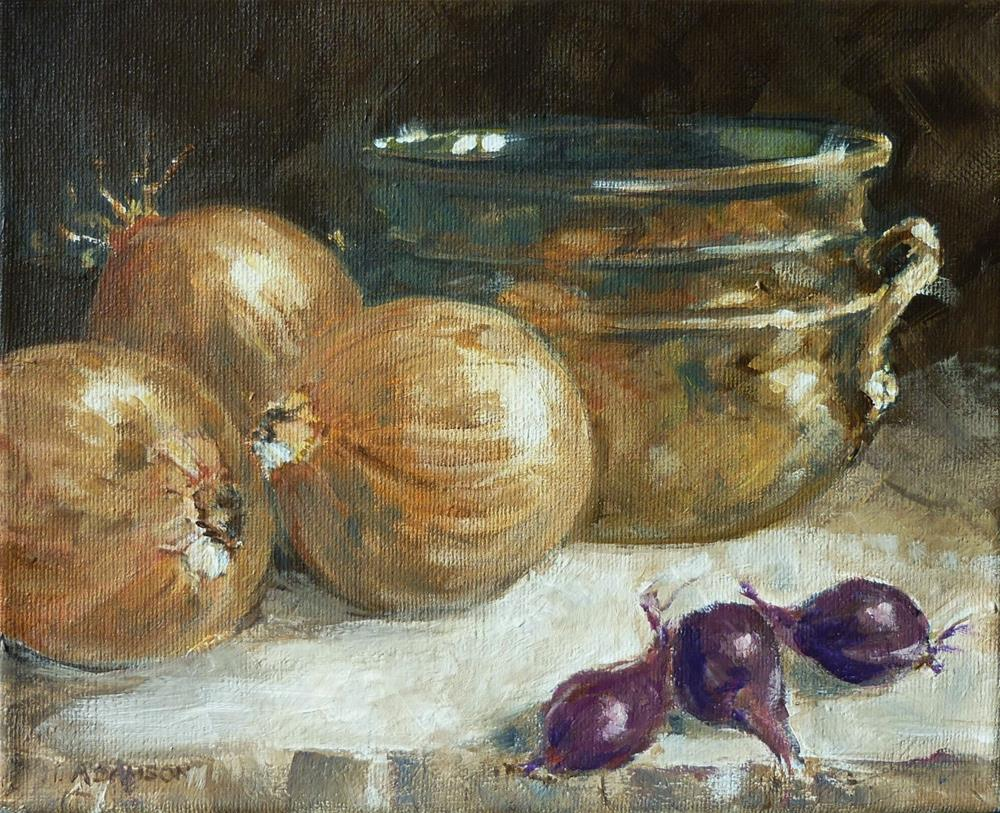 """Trio Times Three"" original fine art by Helene Adamson"
