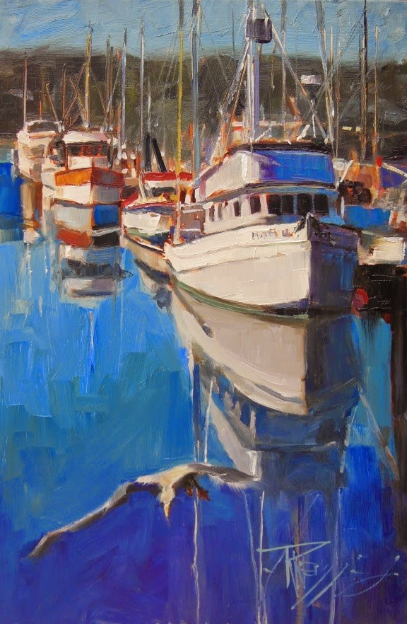 """Diamond Lil Poulsbo, plein air, marine landscape painting by Robin Weiss"" original fine art by Robin Weiss"