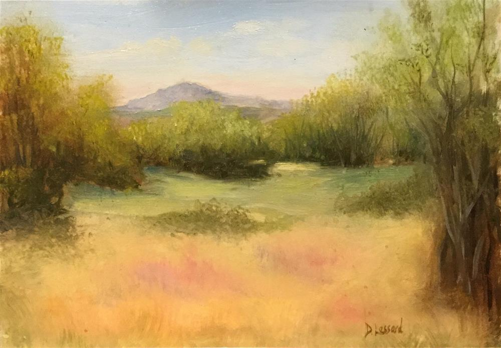 """Mountain View # 1601"" original fine art by Dee Lessard"