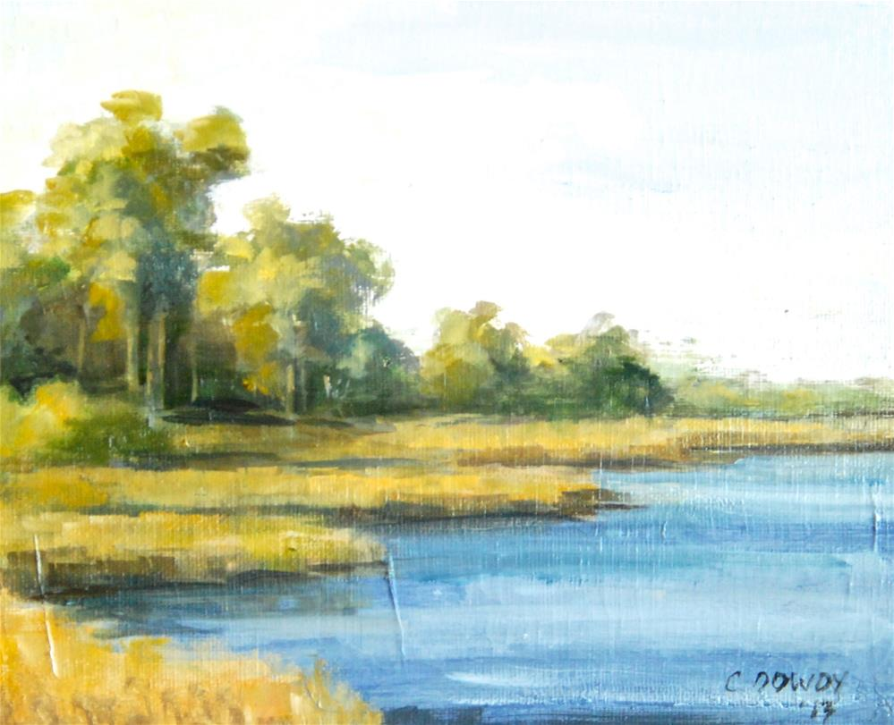 """Marsh, Late Afternoon"" original fine art by Christina Dowdy"