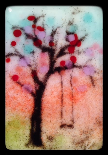 """Tiniest of Trees for Today"" original fine art by Kelly Alge"