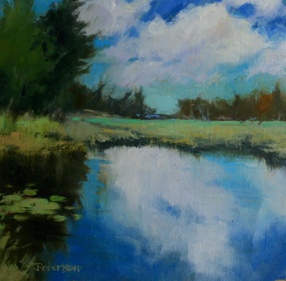 """Floating Clouds II"" original fine art by Jane Robertson"