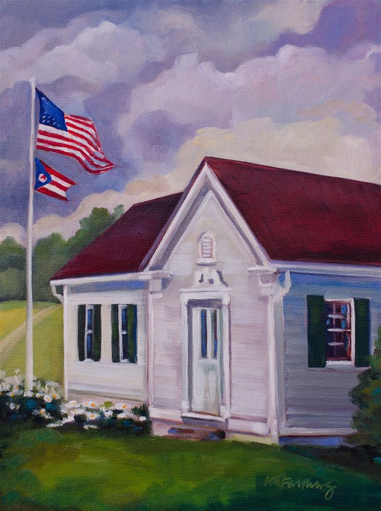 """""""Windy Afternoon"""" original fine art by Kathleen Gray Farthing"""