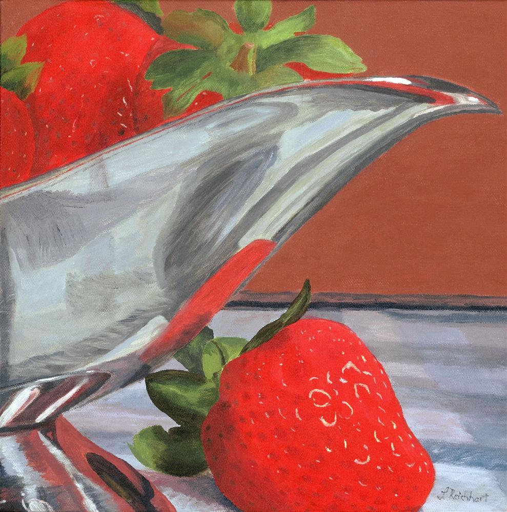 """Strawberry Season"" original fine art by Lynne Reichhart"