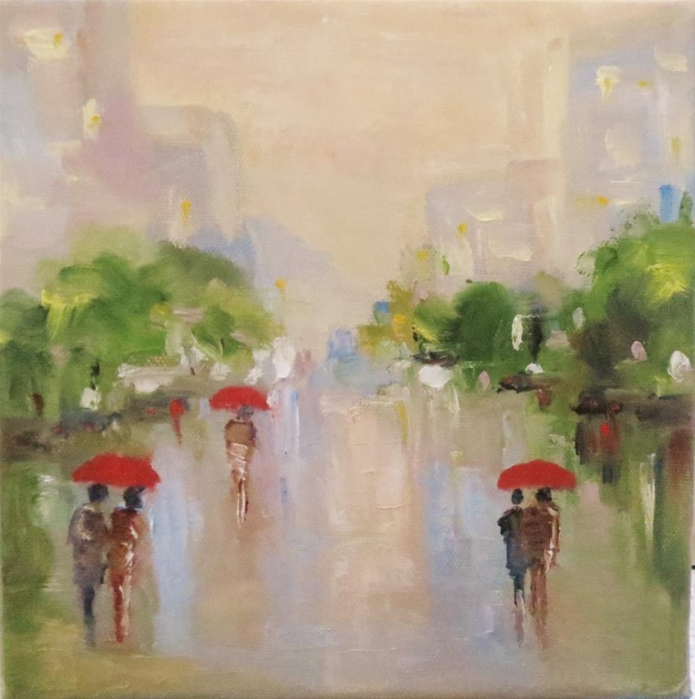 """Spring rain"" original fine art by Astrid Buchhammer"