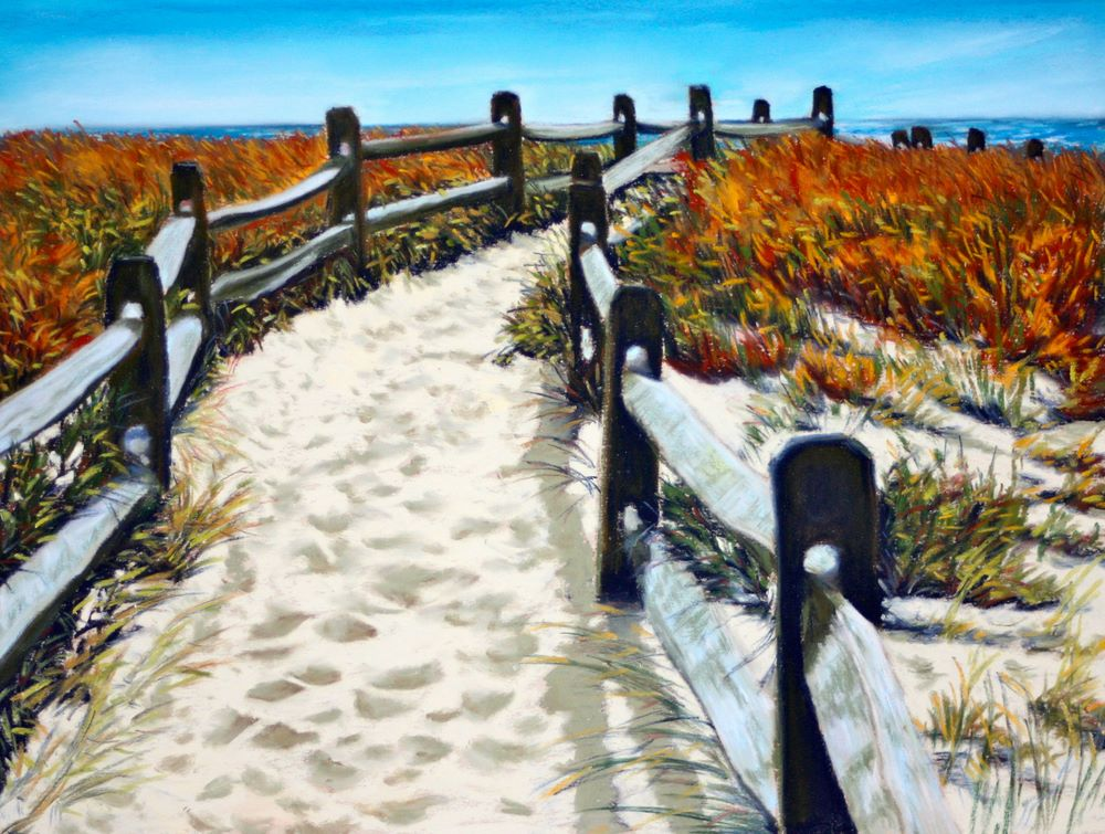"""Pathway to Water"" original fine art by Jill Bates"